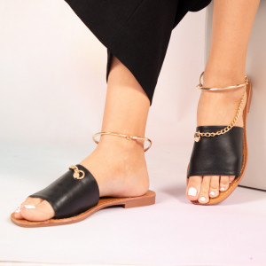 Черни дамски пантофи Josy