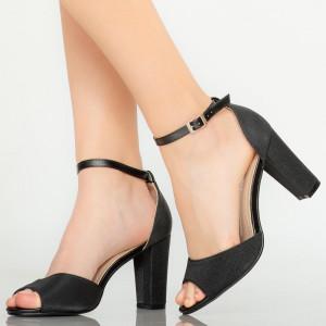Черни дамски сандали Foxi