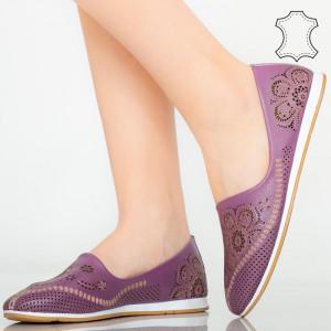 Cess lila természetes bőr cipő
