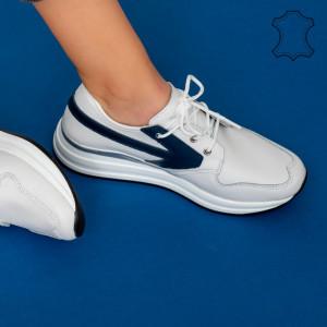 Fehér Pylo valódi bőr cipők