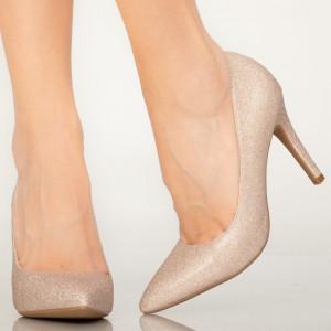 Pantofi dama Sure aurii