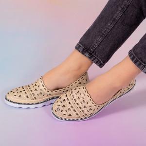 Pantofi piele naturala Bes bej