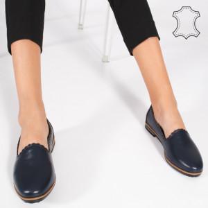 Pantofi Piele Naturala BUR Albastri