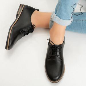 Pantofi piele naturala Jer negri