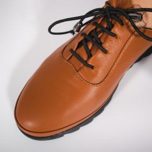 Pantofi Piele Naturala LUVE Camel