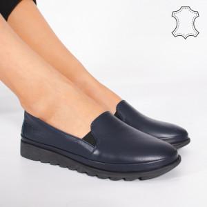 Pantofi Piele Naturala MUDE Albastri