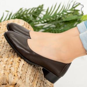 Pantofi piele naturala Ofe maro