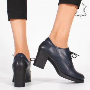 Pantofi Piele Naturala VIR Albastri