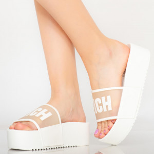 Papuci dama Rich albi