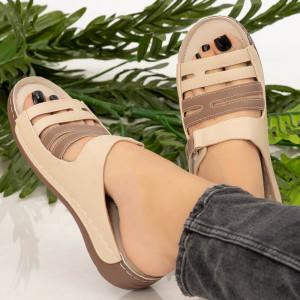 Papuci dama Ruia bej