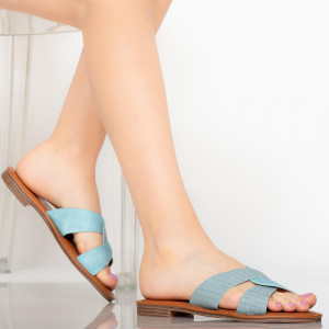 Papuci dama Saga albastri
