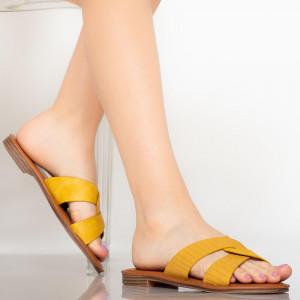 Papuci dama Saga galbene