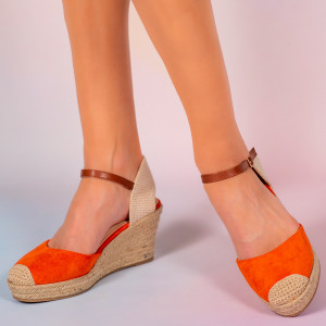 Platforme dama Mufi portocalii