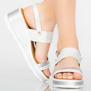 Platforme dama Ride argintii