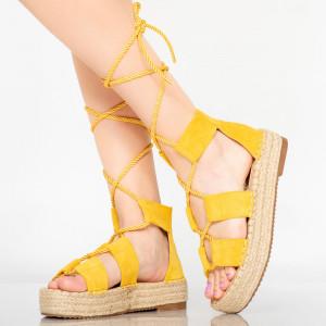 Sandale dama Del galbene