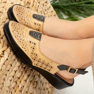 Sandale dama Doka bej
