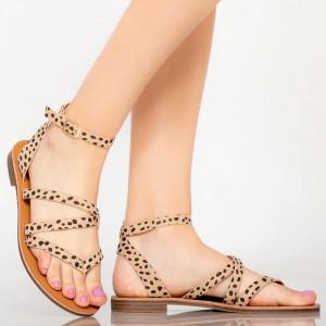 Sandale dama Ewa bej
