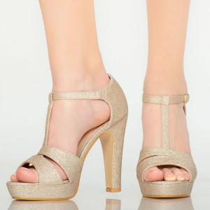 Sandale dama Mars aurii