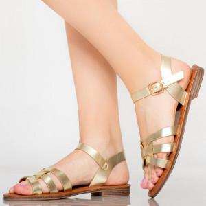 Sandale dama Mati aurii