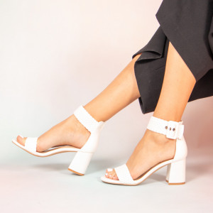 Sandale dama Peto albe