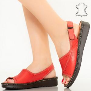 Sandale piele naturala Algo rosii