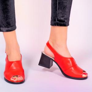 Sandale piele naturala Melo rosii