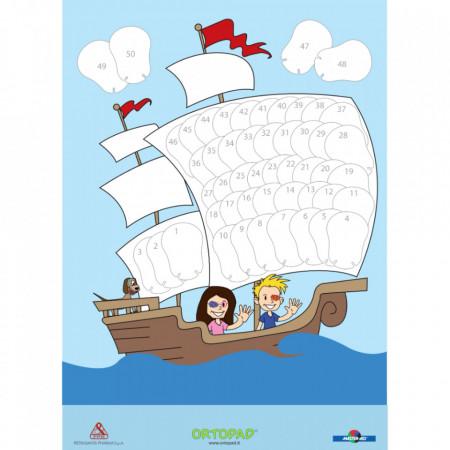 Poster recompensă ocluzoare copii Ortopad PIRAȚI