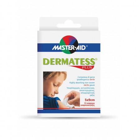 Comprese sterile Dermatess Plus Master-Aid din material nețesut 5×9 cm