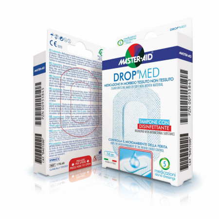 Pansament steril autoadeziv cu antiseptic Drop Med 7x5 cm
