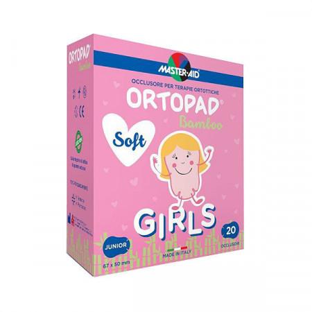 Ortopad Soft Girls – Ocluzoare colorate pentru fetite, 20 buc