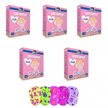 Ortopad Soft Girls – Ocluzoare colorate pentru fetițe, 100 buc