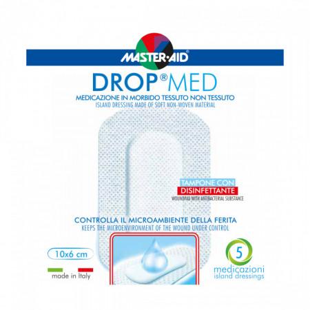 Pansament steril autoadeziv cu antiseptic Drop Med 10x6cm