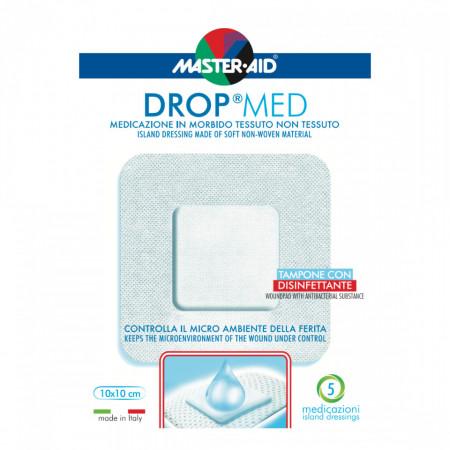 Pansament steril autoadeziv cu antiseptic Drop Med 10x10 cm