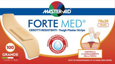 Plasturi Forte Med, Master-Aid, ultra-rezistenți, 1 mărime, 100 bucăți