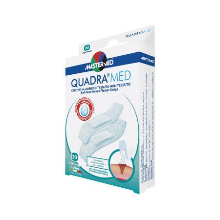 Plasturi piele sensibilă Quadra Med Master-Aid, 2 mărimi, 20 bucăți
