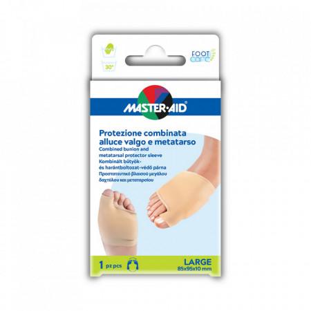 Manşon combinat protecție monturi (Hallux Valgus) și metatarsal Foot Care 1 buc LARGE