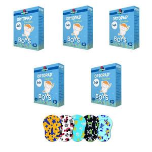 Ortopad Soft Boys – Ocluzoare colorate pentru băieți, 120 buc