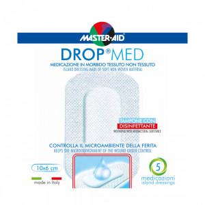 Pansament steril, autoadeziv, cu antiseptic Drop Med 10x6 cm, 5 bucăți