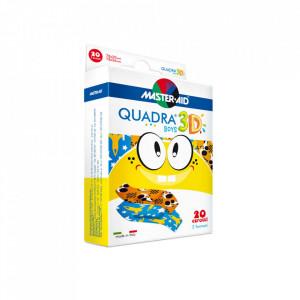 Quadra 3D Boys – Plasturi pentru pielea sensibilă a copiilor