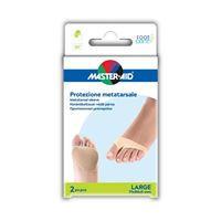 Manşon cu gel pentru protecție metatarsiana - Foot Care, 2 buc Large