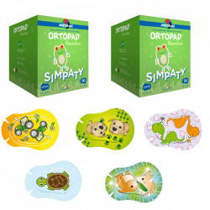 Ortopad Simpaty – Ocluzoare colorate pentru copii 100 buc