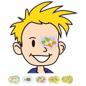 Ocluzor Ortopad Simpaty, Master-Aid, pentru copii, Mediu, 76x54 mm, 50 bucăți