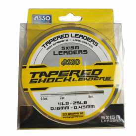 Fir Asso Tapered Shock Leader Clear 0.20/0.57mm 15m