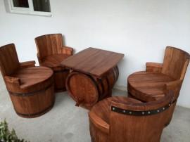 Set 4 scaune + masa lemn masiv