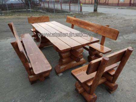 Poze Set terasă  masa  2 bancute  2 scaune si masa