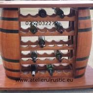 Bar din butoaie cu suport de sticle