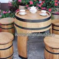 Set masa cu 4 scaune rotunde