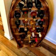 Raft din lemn masiv 20 sticle vin