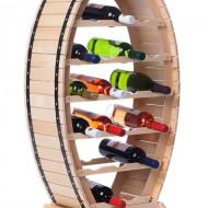 Raft din lemn natur 20 sticle