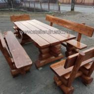 Set terasă  masa  2 bancute  2 scaune si masa